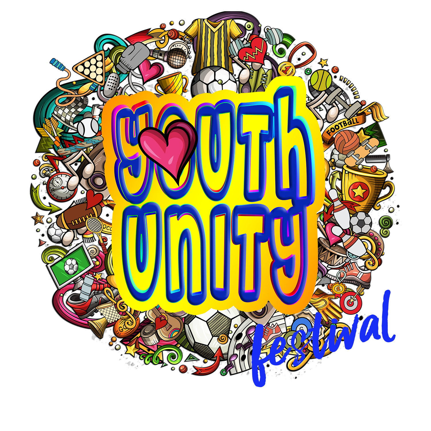 YOUTH UNITY WITH FESTIVAL WORD